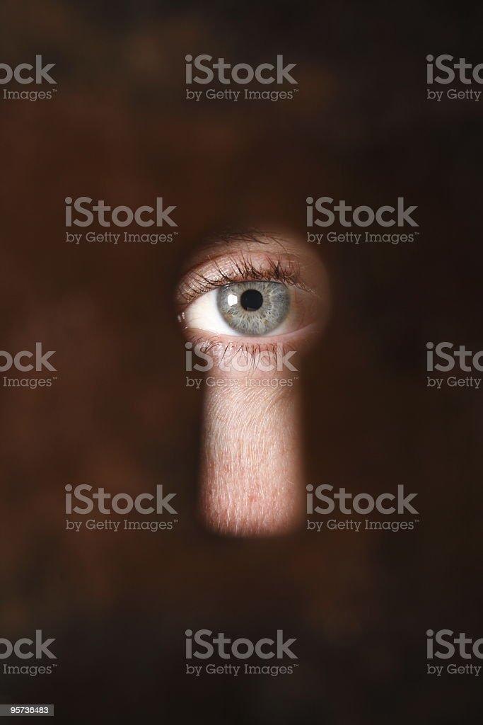 Through the keyhole stock photo