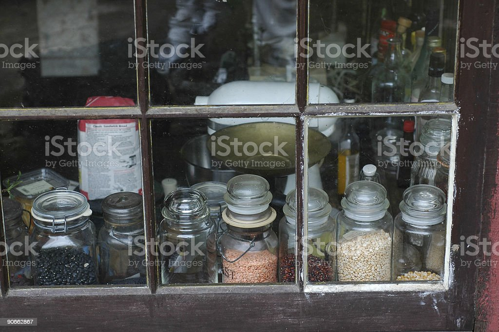 through the kitchen window royalty-free stock photo