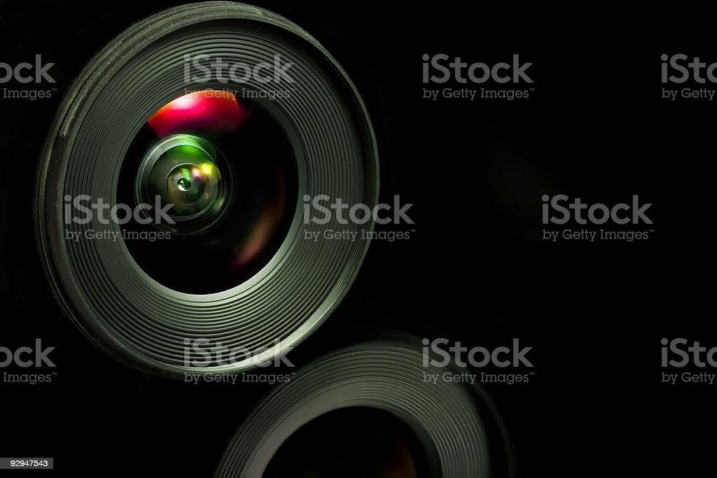 Through the lens stock photo