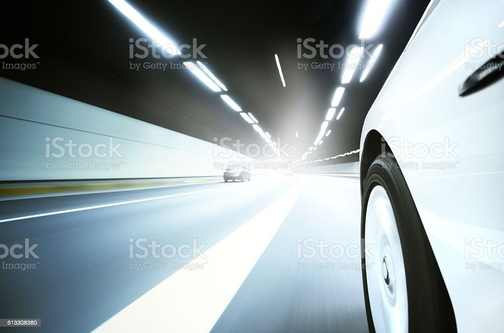 Through the road stock photo