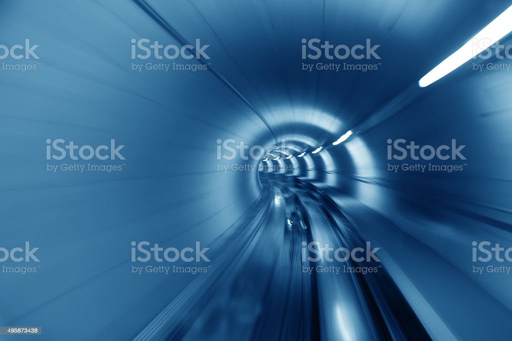 Through the tunnel stock photo