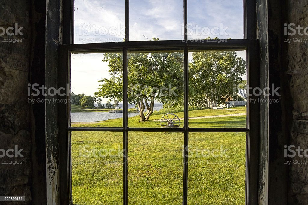Through The Window stock photo