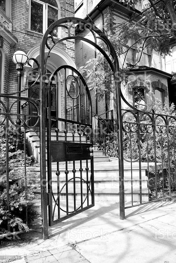 Through The Wrought Iron Gate royalty-free stock photo