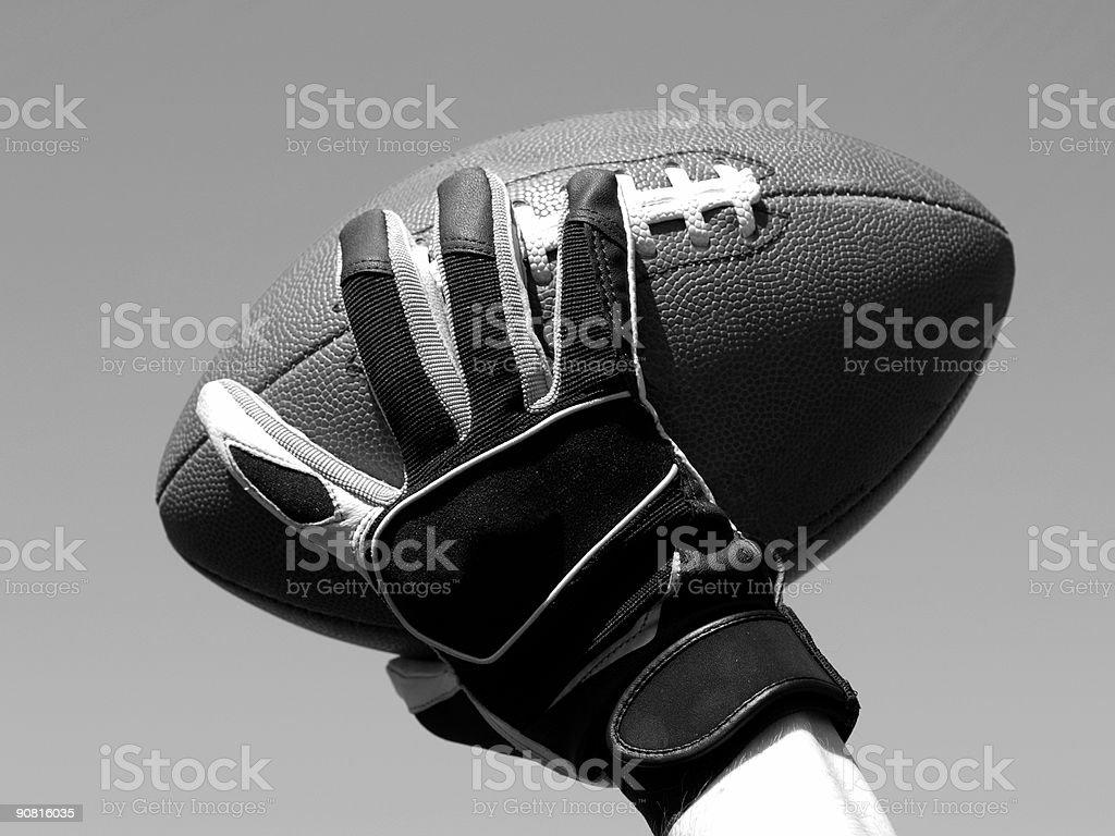 Throw a football - B&W stock photo