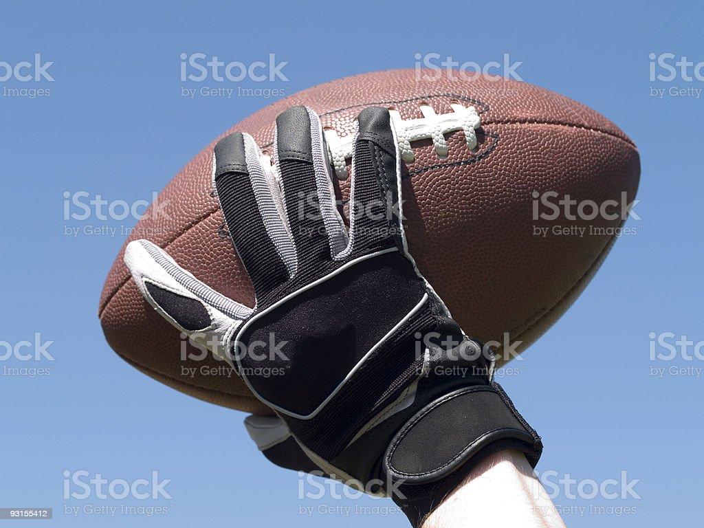 Throw a football royalty-free stock photo