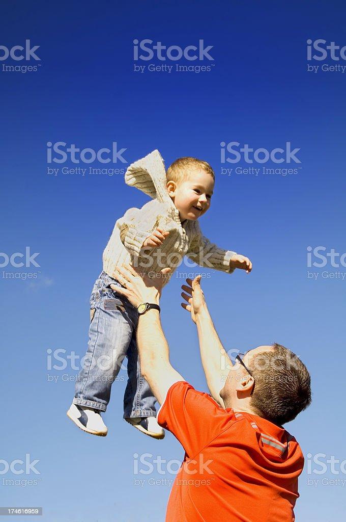 throw me dad royalty-free stock photo