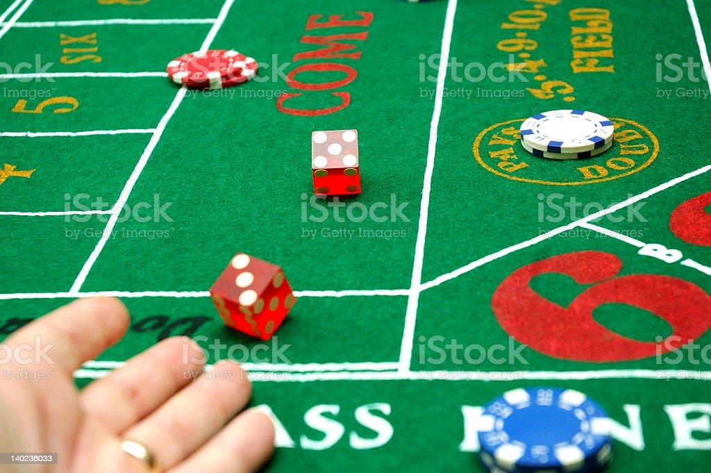 Throw the dice stock photo