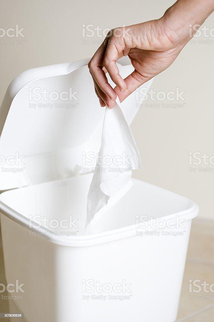 Throw the tissue royalty-free stock photo