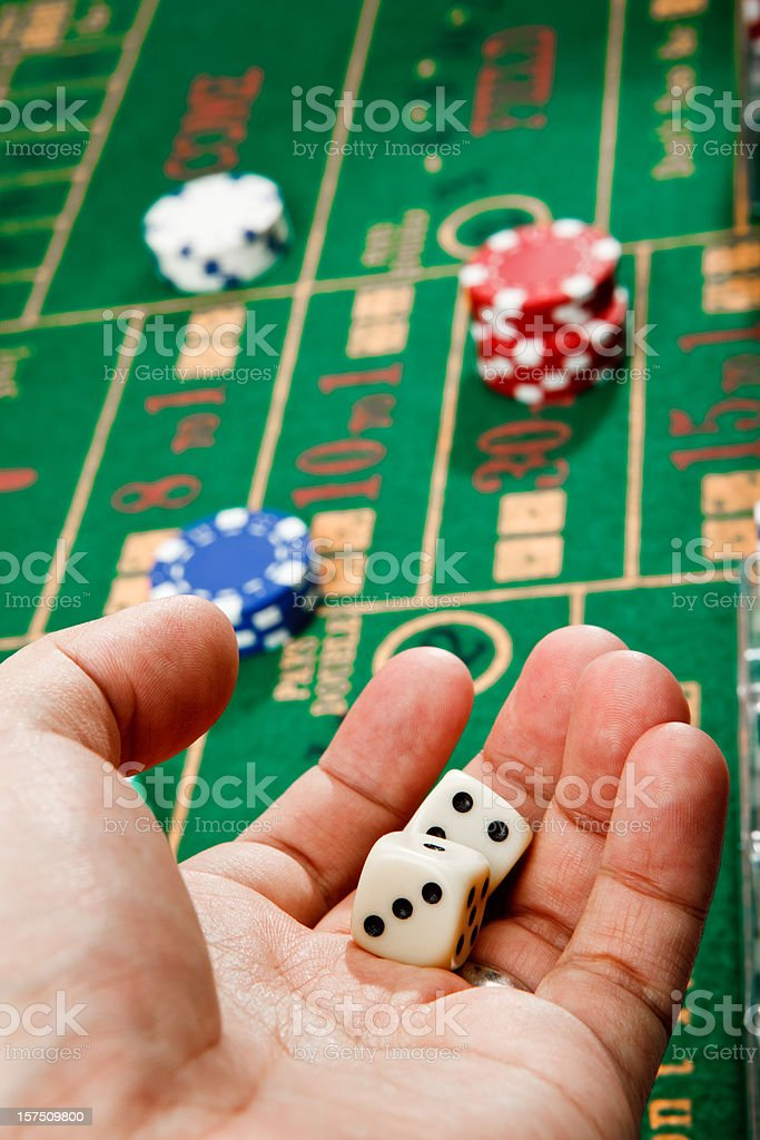throw those craps dice royalty-free stock photo