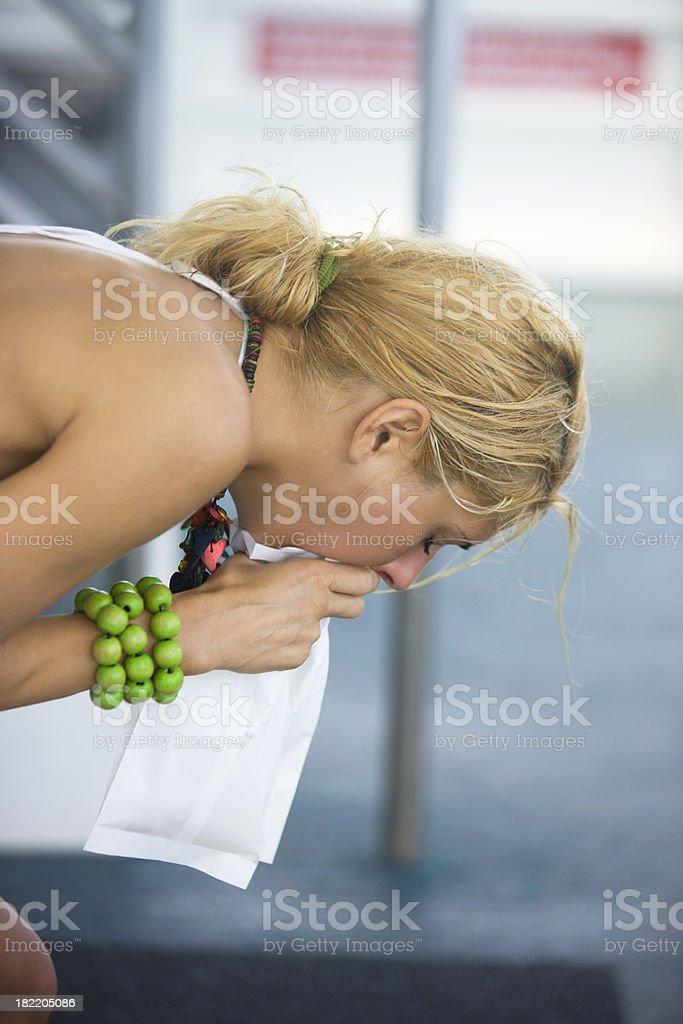 Throw up stock photo
