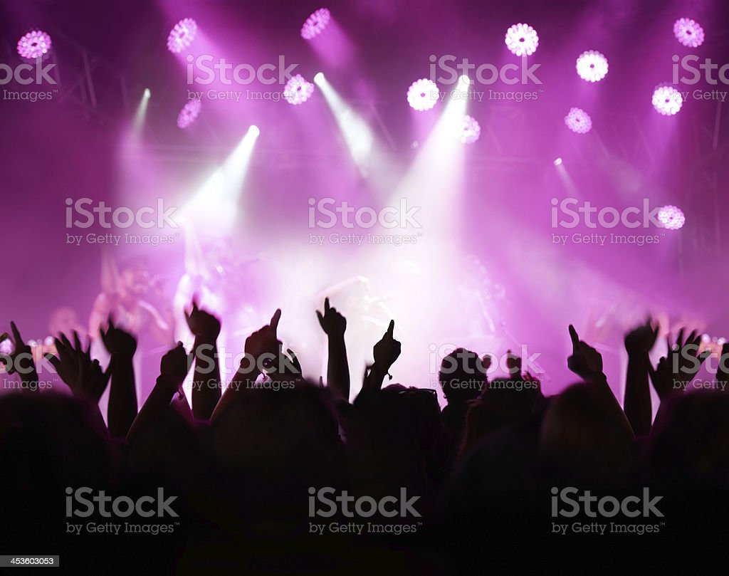 Throw your hands up! royalty-free stock photo