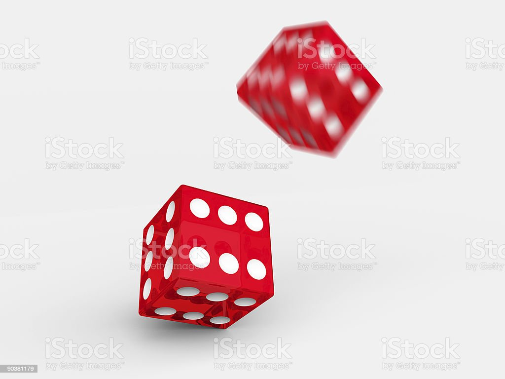Throwed dice royalty-free stock photo