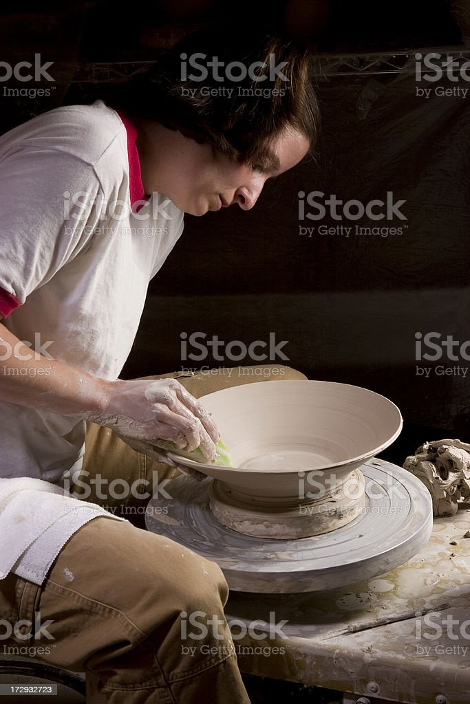 Throwing a Platter royalty-free stock photo