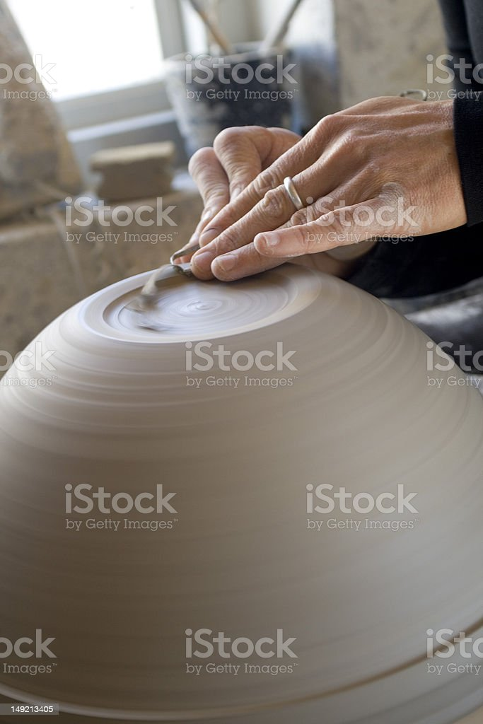 Throwing a pot royalty-free stock photo