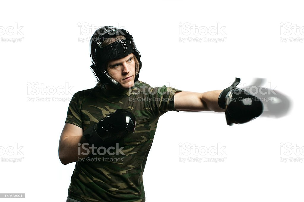 Throwing a Punch royalty-free stock photo