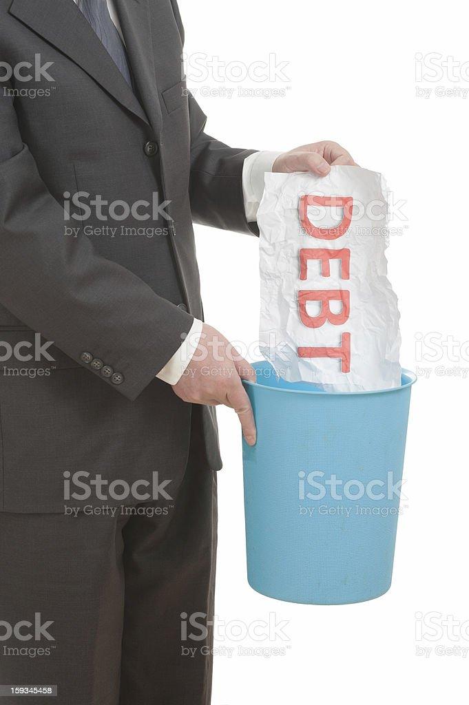 Throwing away debt royalty-free stock photo