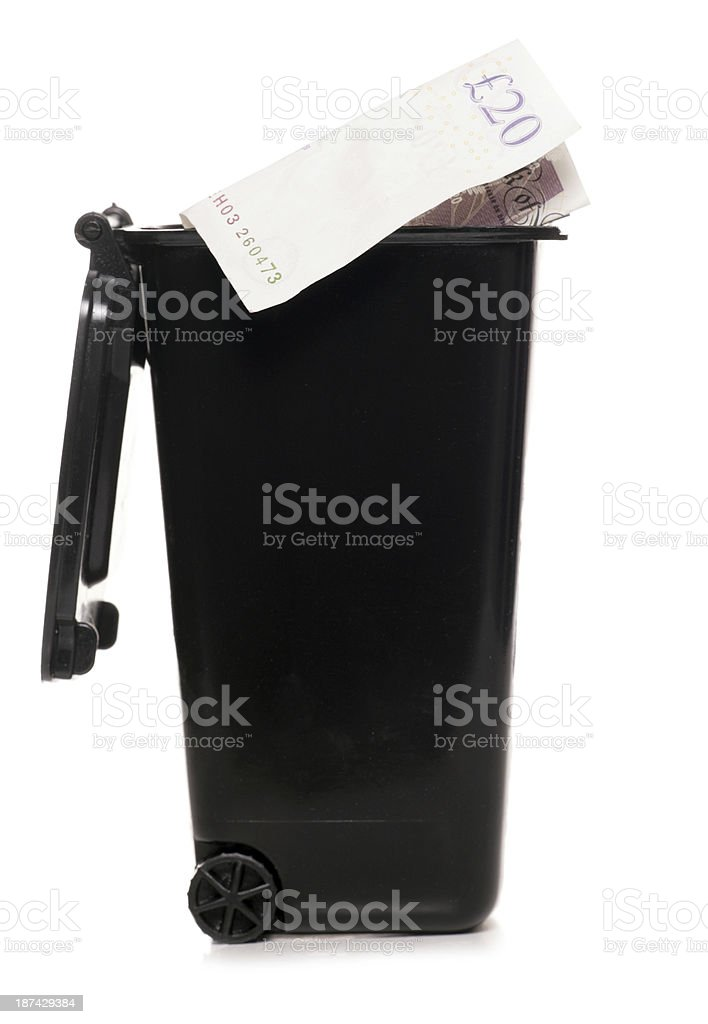 Throwing away money royalty-free stock photo