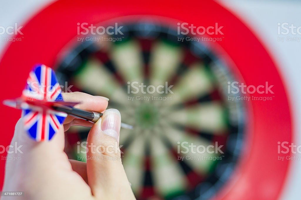 Throwing Darts royalty-free stock photo