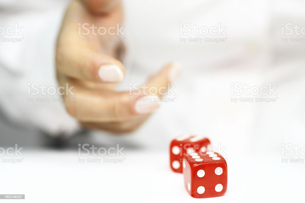 Throwing dices royalty-free stock photo