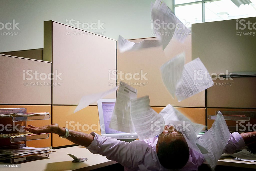 Throwing Documents royalty-free stock photo