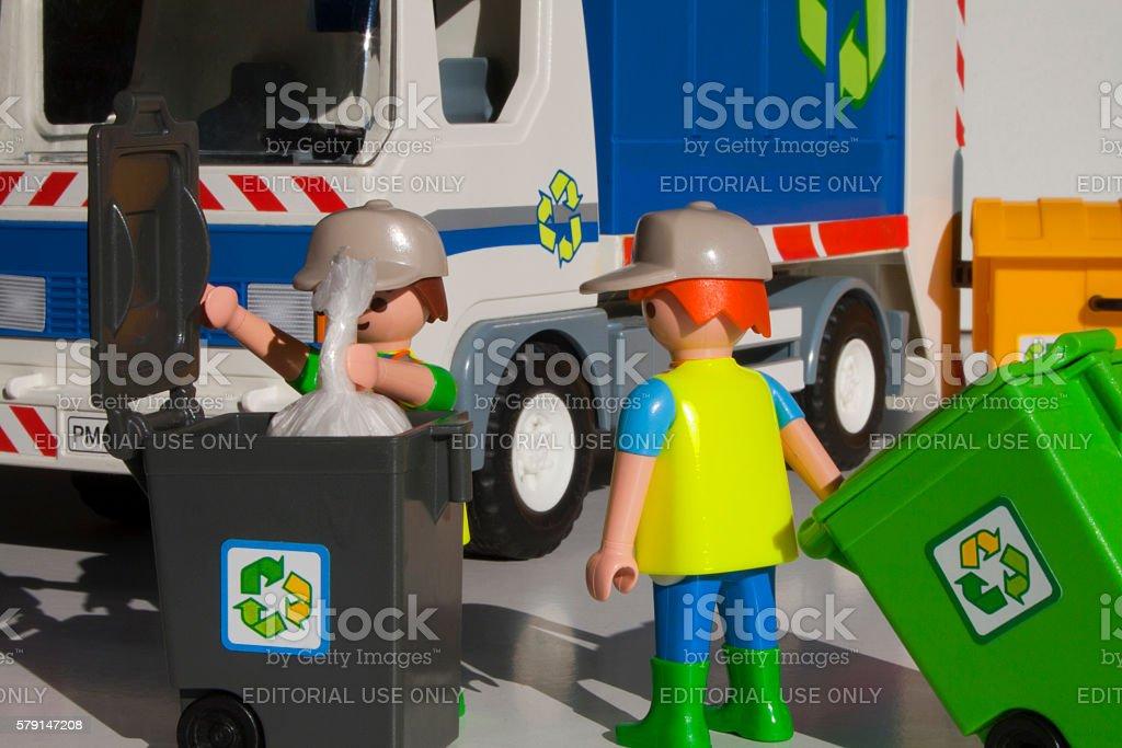 Throwing garbage stock photo