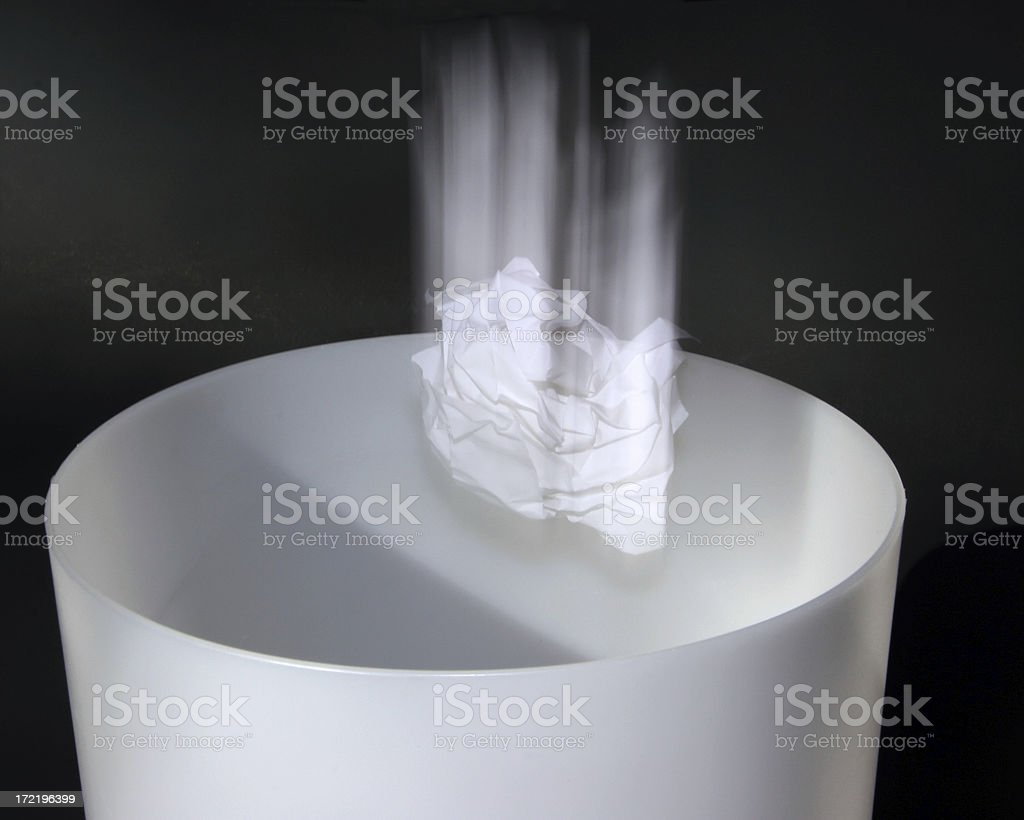 Throwing It Out stock photo