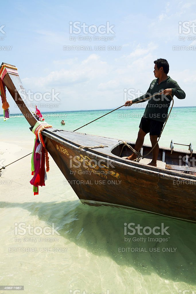Throwing out anchor royalty-free stock photo