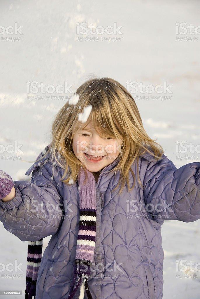 Throwing Snow royalty-free stock photo