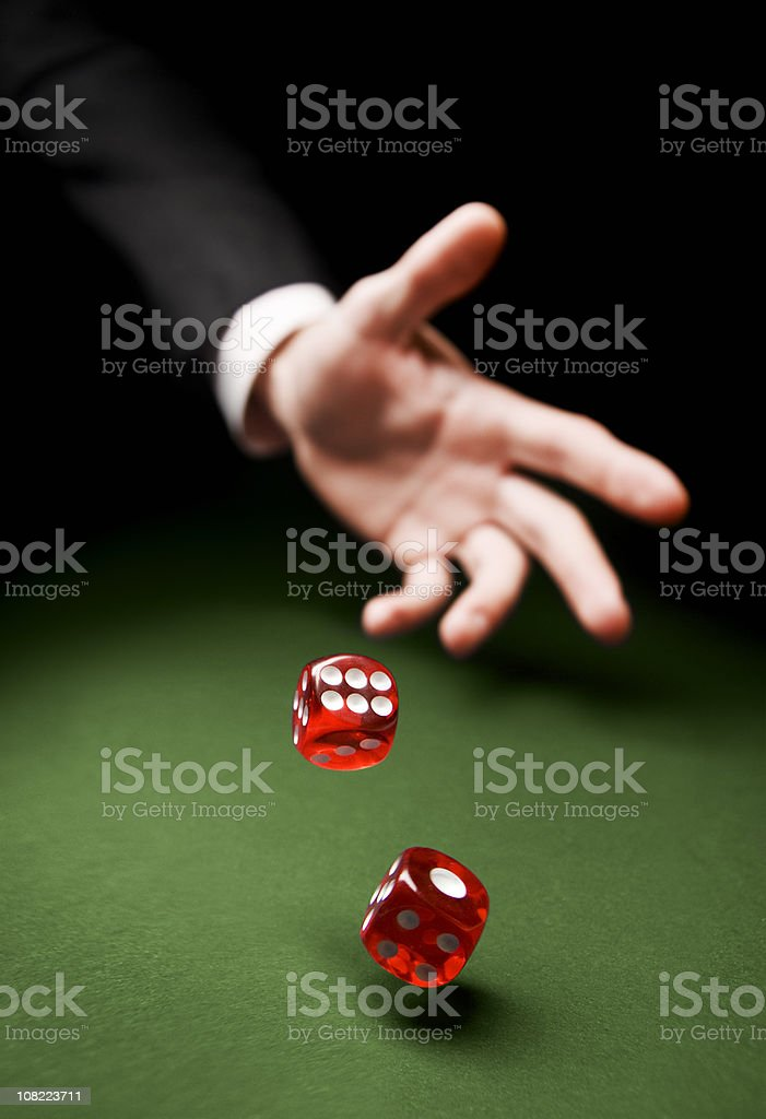 Throwing the Dice stock photo