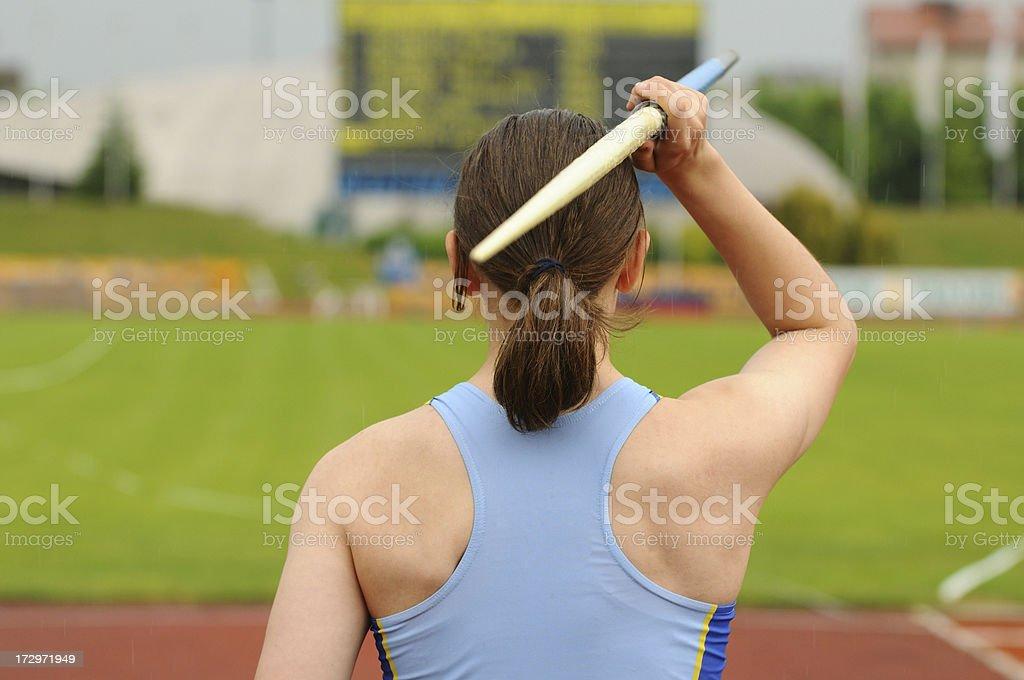 Throwing the Javelin stock photo