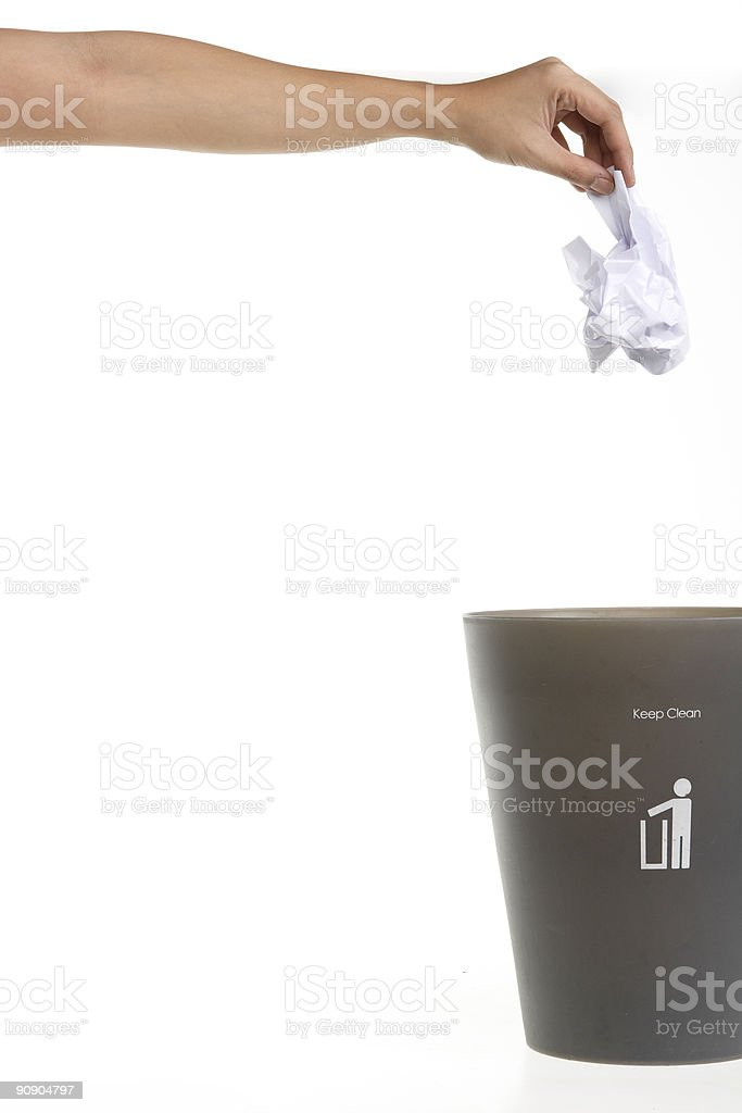 throwing trash stock photo