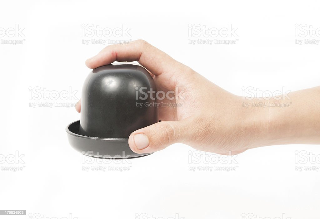 Thrown dice isolated stock photo