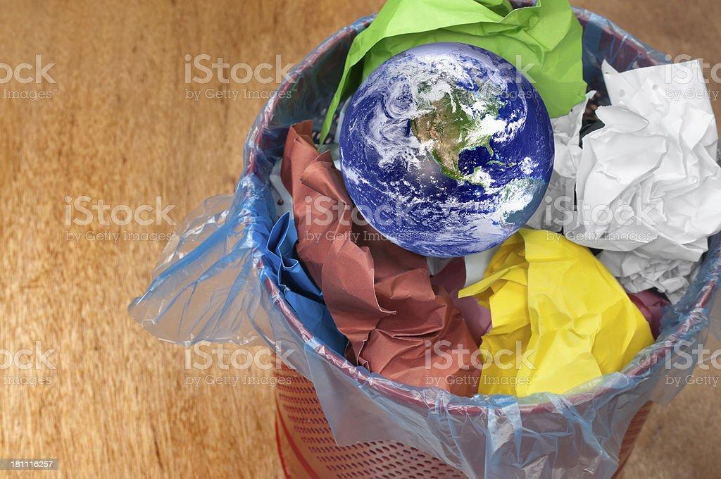 Thrown planet stock photo