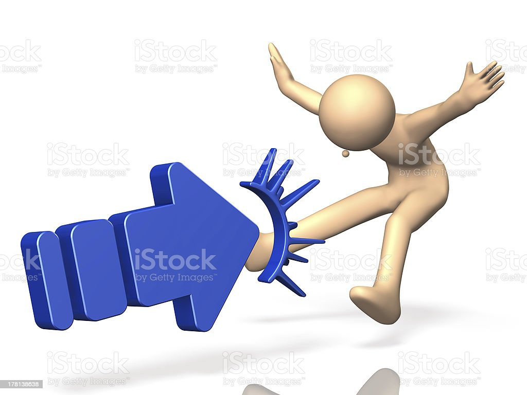 thrust away with big force. stock photo