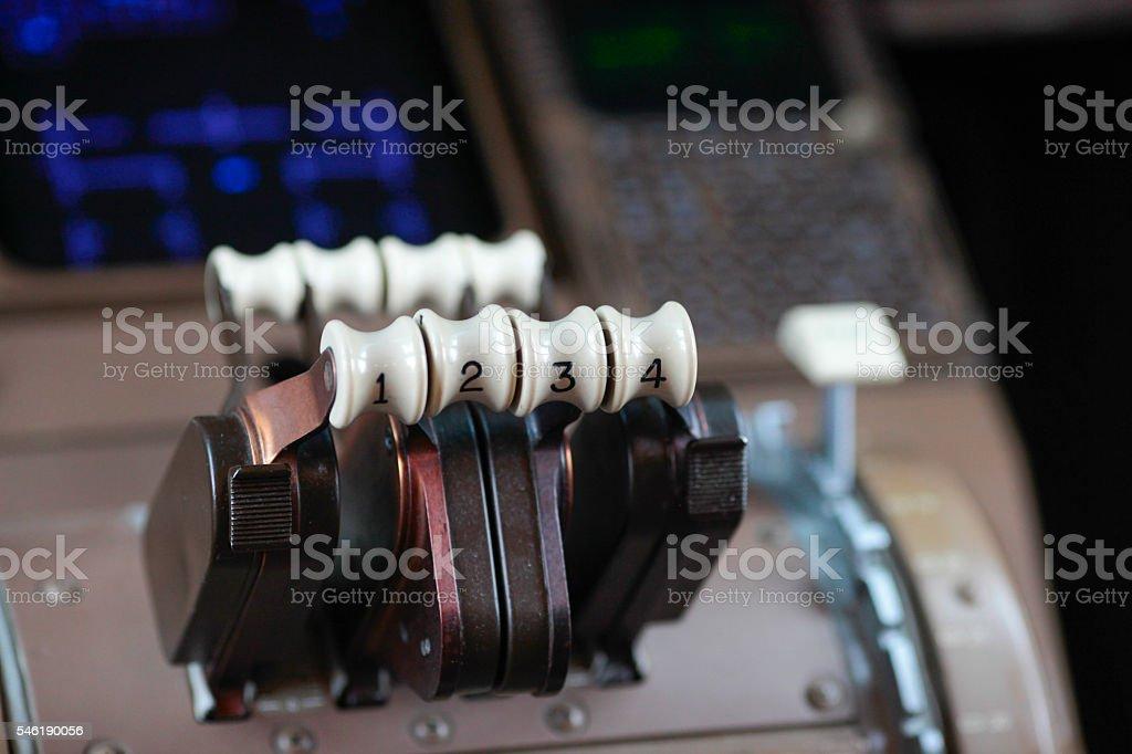 Thrust lever stock photo