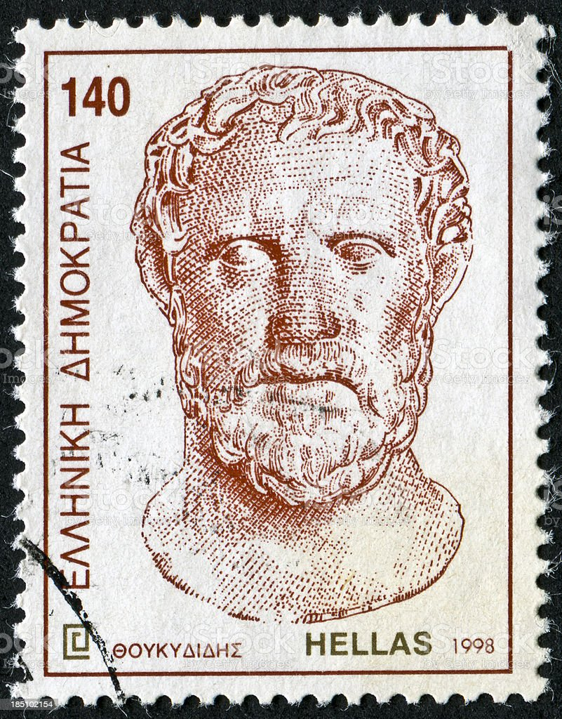 Thucydides Stamp stock photo