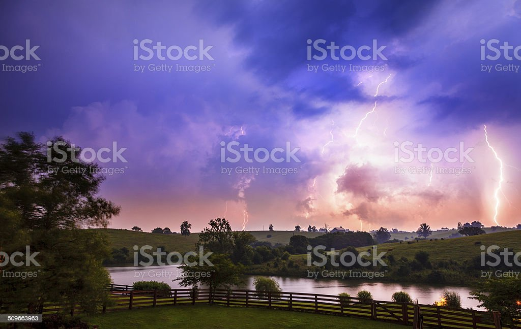 Thuderstorm stock photo
