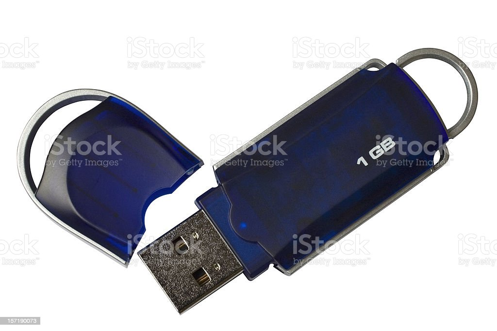 USB Thumb Drive/Pen Drive (with 2 paths) royalty-free stock photo