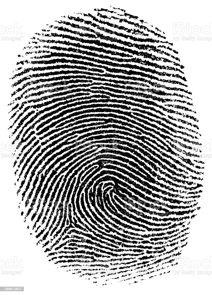 Thumb fingerprint stock photo