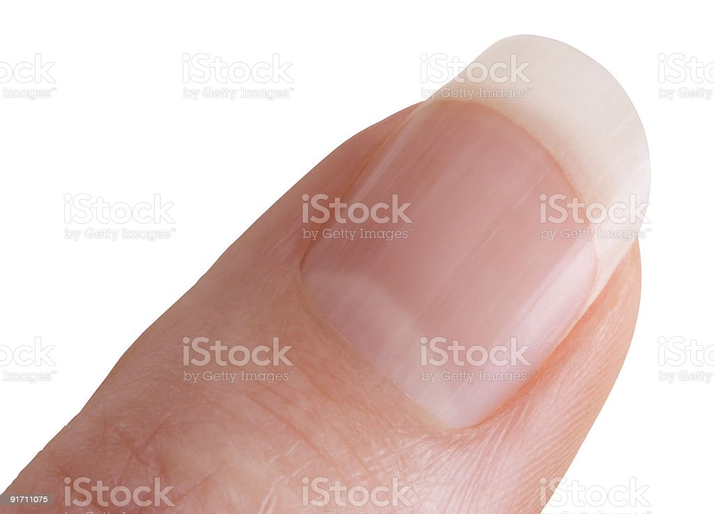 Thumb or finger with clipping path stock photo