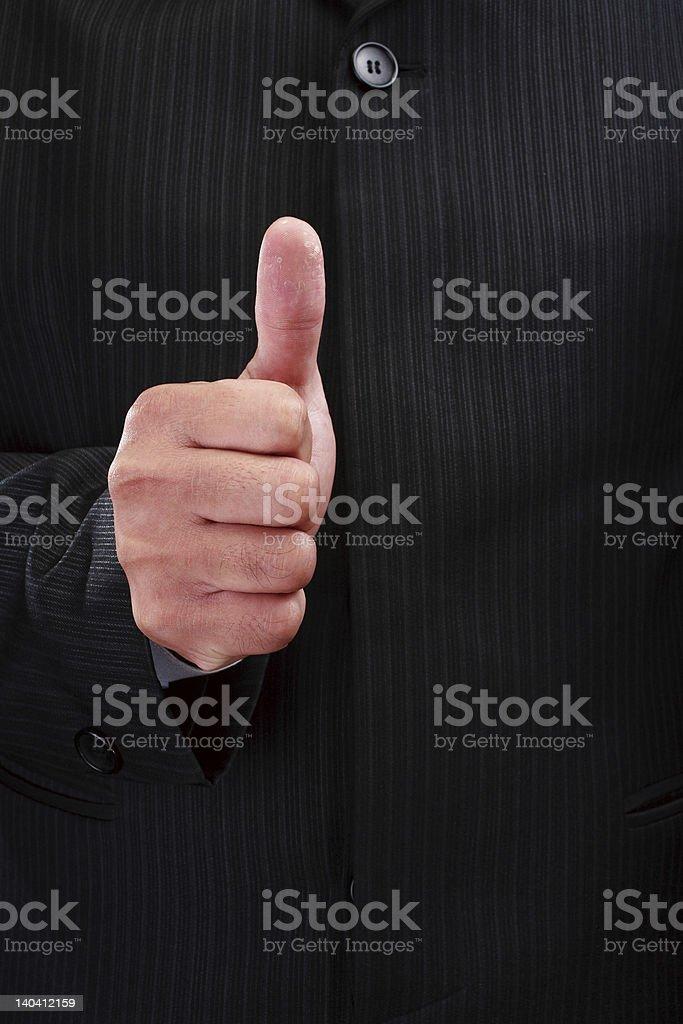 Thumb royalty-free stock photo