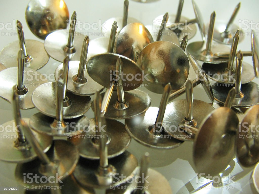 Thumb pin stock photo