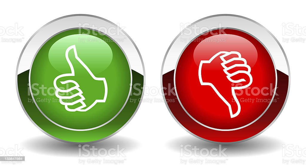 Thumb up and down buttons royalty-free stock photo