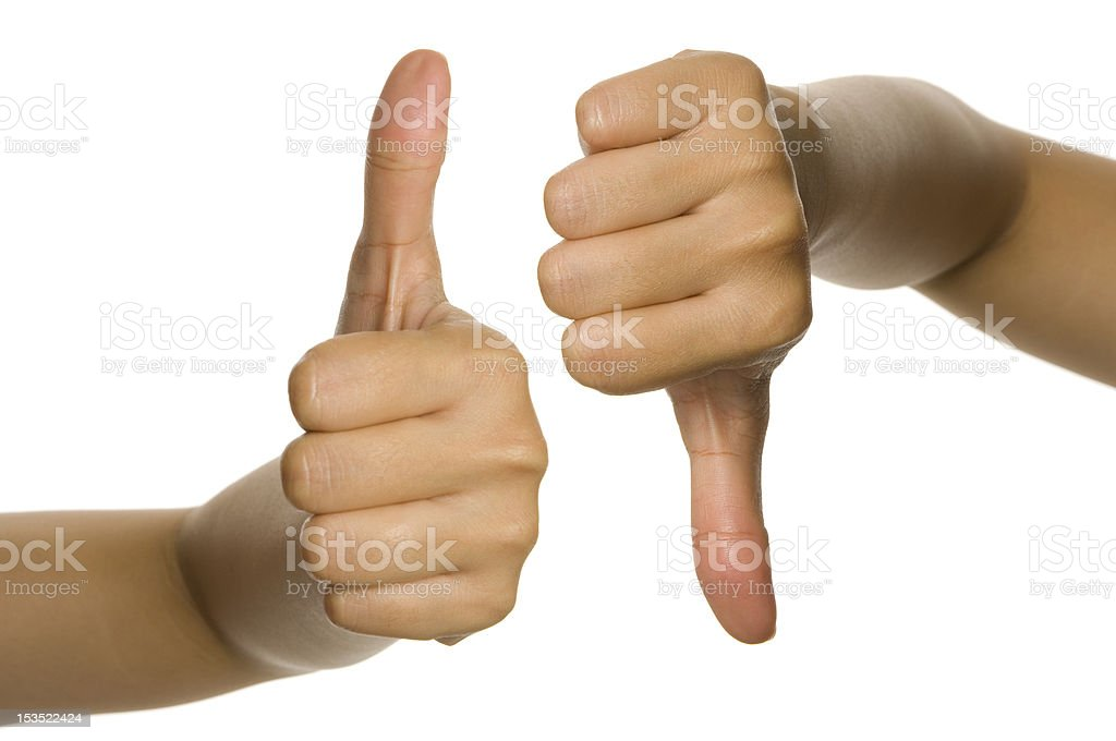 Thumb Up And Down royalty-free stock photo