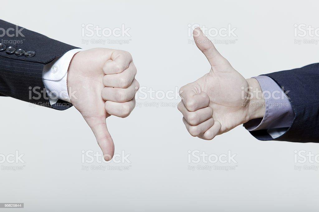 thumb up  down royalty-free stock photo
