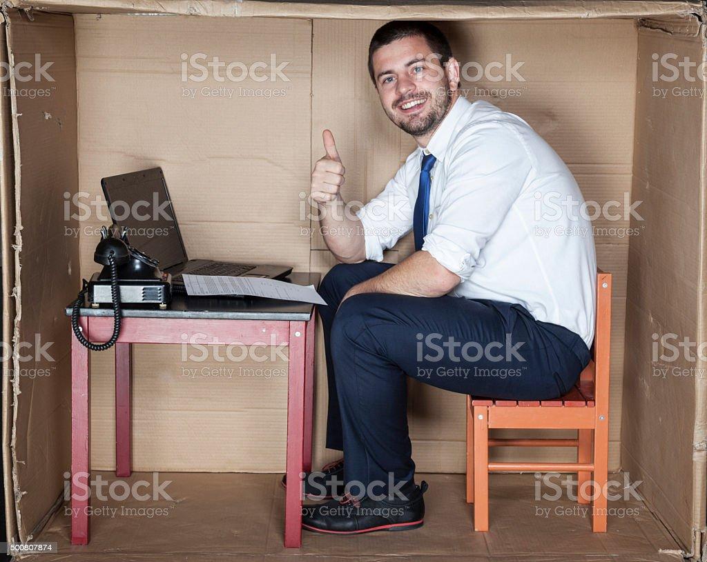 thumb up for job stock photo
