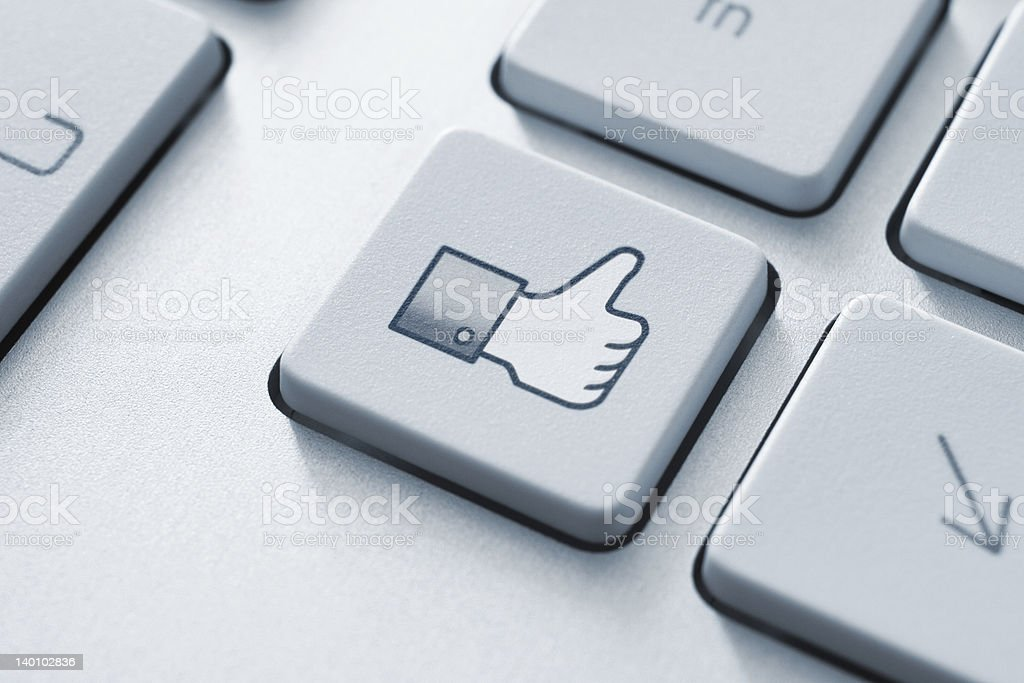 Thumb Up Like Button royalty-free stock photo