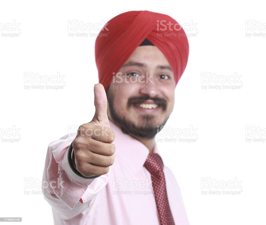 Thumb up royalty-free stock photo