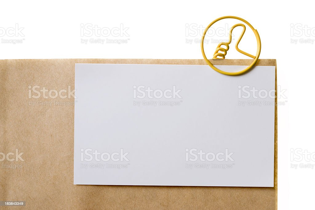 Thumb Up (paper clip) royalty-free stock photo