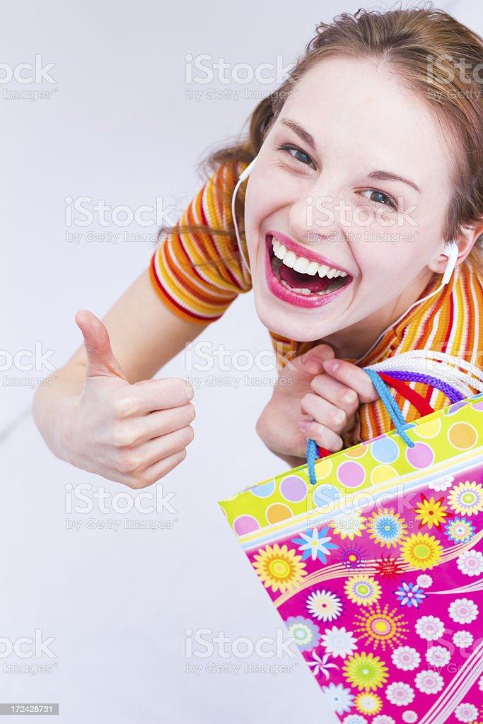 Thumb up shopping! royalty-free stock photo
